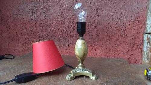 aplique o lámpara de mesa, bronce y piedra