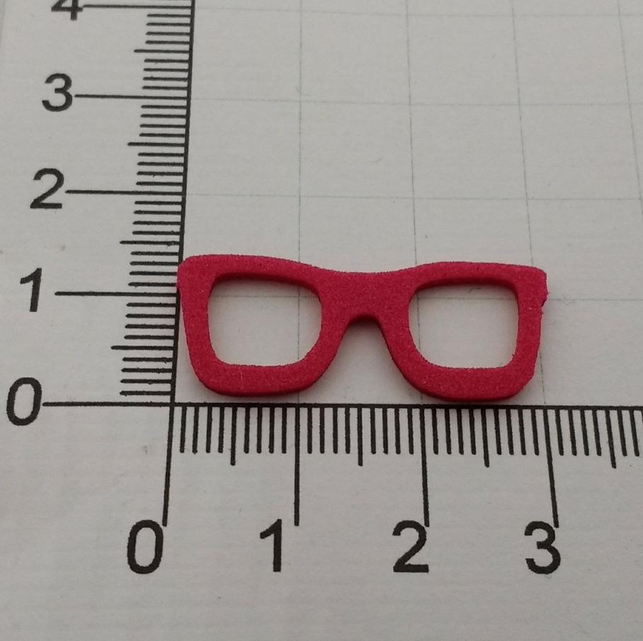 8dbfe3446 Aplique Óculos Em Eva Com 100 Unidades 3 Cm Várias Cores* - R$ 25,00 ...