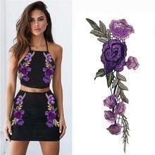En liquidación precios increibles compra genuina Aplique Para Ropa Bordado Flores Violetas