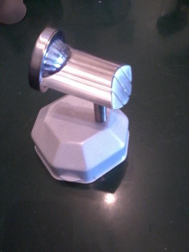 aplique pared 1 luz dicroica o bipin completo oferta