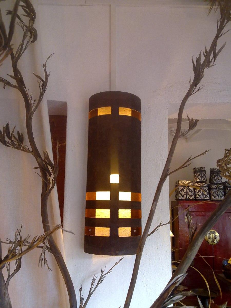 Aplique pared en hierro fabrica ara as pantallas for Fabricas de muebles en montevideo uruguay