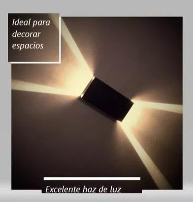 aplique pared interior luz indirecta bidireccional