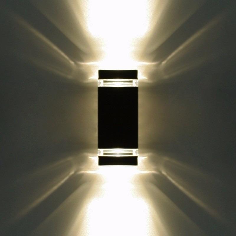 Aplique Pared Luz Bidireccional Exterior Aluminio Pgu10 Led - Artefactos-de-iluminacion-exterior