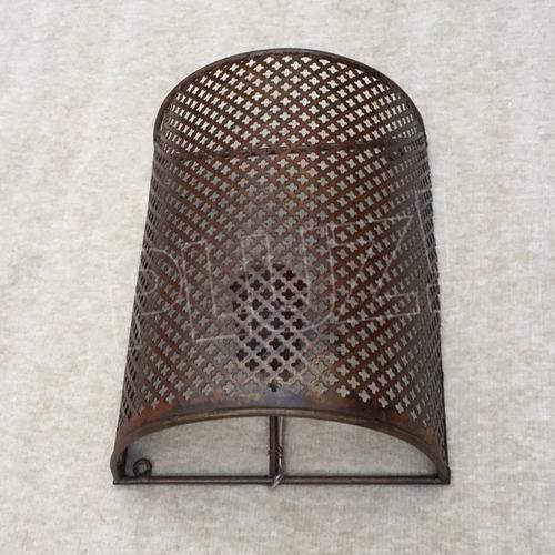 aplique pared media caña con malla 1 luz  - hierro óxido