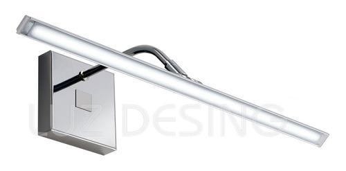 aplique pared móvil fenix cuadros baños led 20w luz desing
