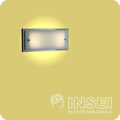 aplique pared philips cybil de pared 2 luces inoxida - insei
