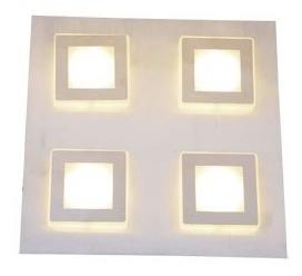aplique pared techo benny candil 4 luces led 16w 220v