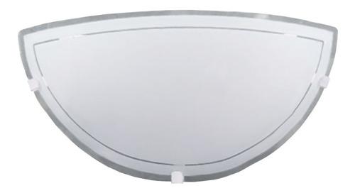 aplique pared vidrio curvo satinado apto led ferrolux ap-177