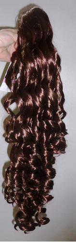 aplique peluca extensión súper cola bucles 100% kanekalon
