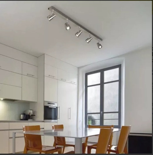 aplique plafon boa sistema 2 luces dicroico led 10w living