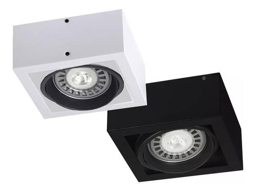 aplique plafon box led 1 foco lampara ar111 gu10 cardanico