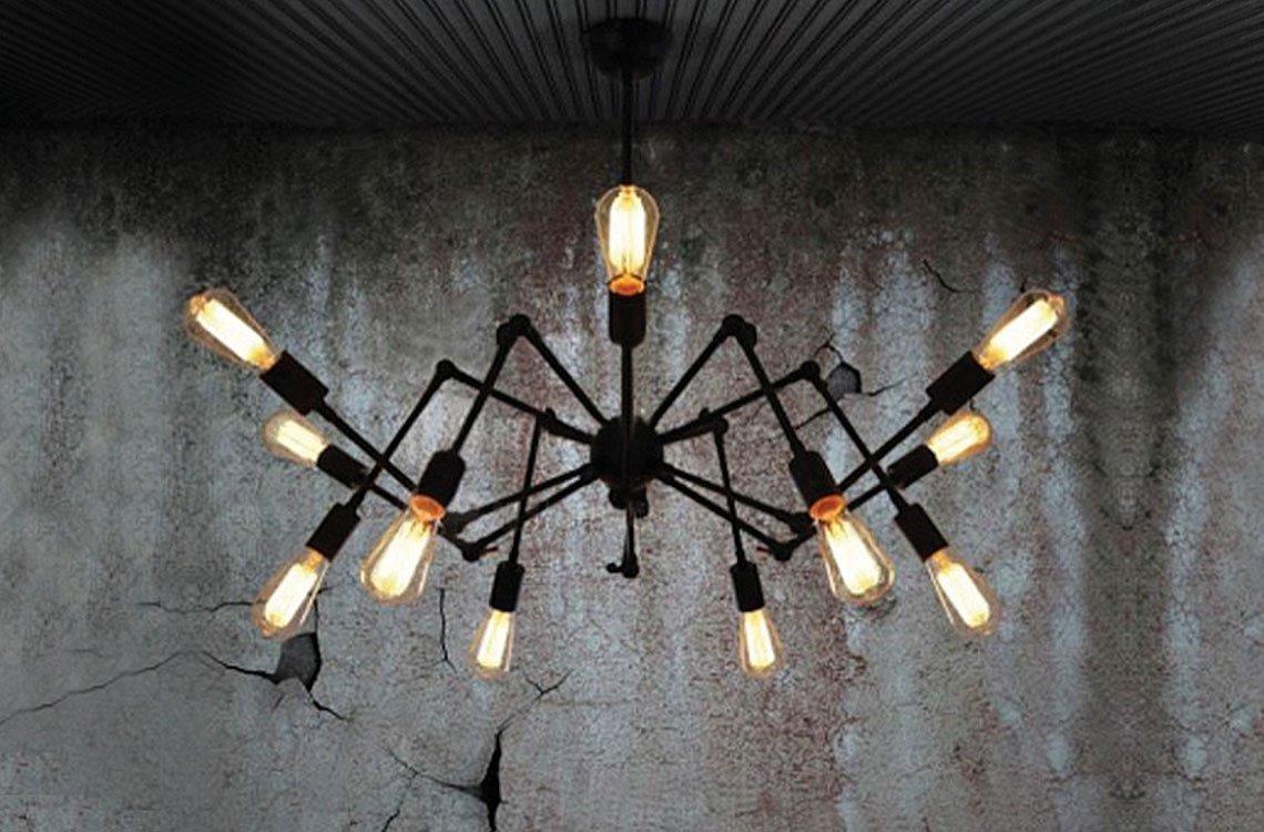 Colgante Plafon Articulada Araña Techo Aplique 12 Luces De 5RjL34qA