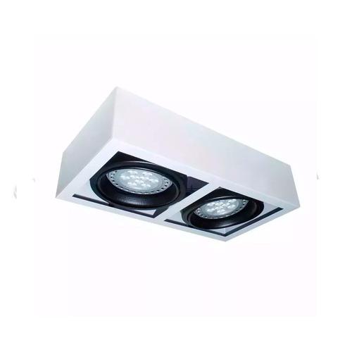 aplique plafon moderno ar111 led spot 2 luces cardanico gu10