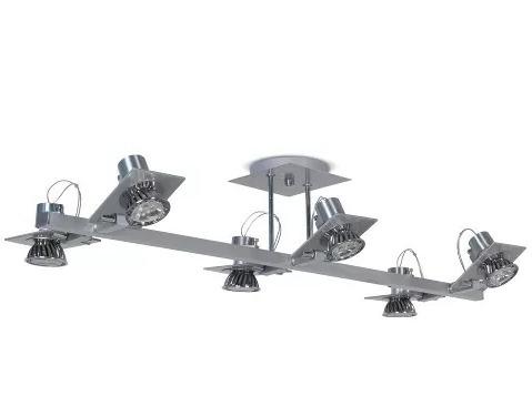aplique plafon moderno pared 6 luces dicroicas led 7w gu10