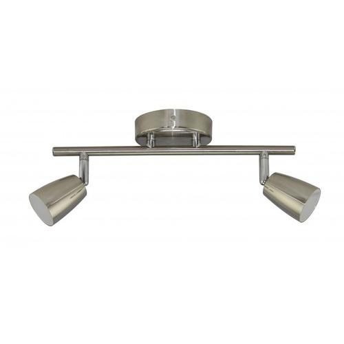 aplique plafon platil moderno moises 2 luces led cob 10w