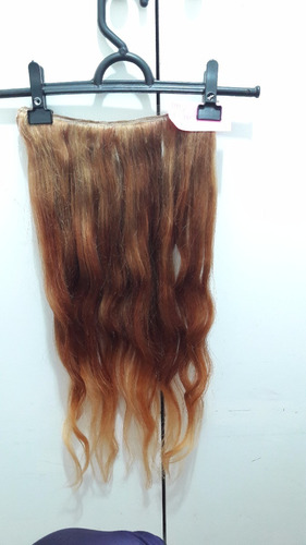 aplique ruivo degradê longo californiana 110g