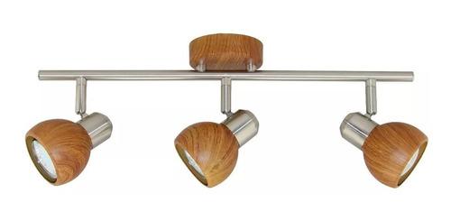 aplique simil madera de 3 luces pared iluminación xylo e27