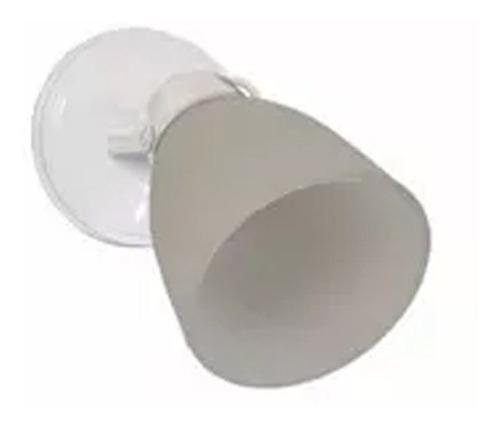 aplique spot 1 luz blanco apto techo ventilador e27 led