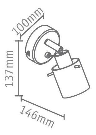 aplique spot pared interior con interrutor 1 luz g9 joven marca: candil apto lampara led g9 220v ideal como velador