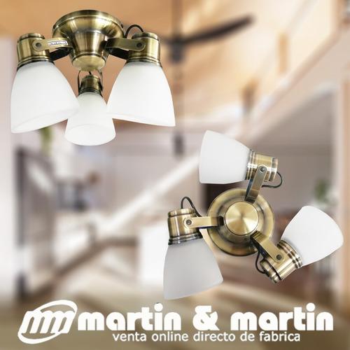 aplique techo vidrio antique bajo cons o  led martin & marti
