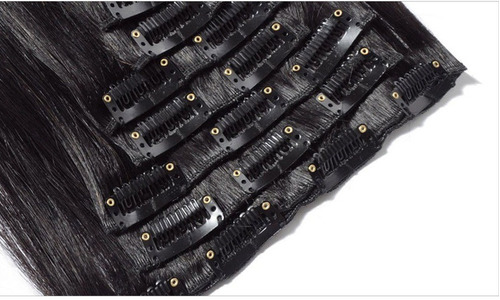 aplique tic tac 100% humano preto azulado 50cm 100g 7 peças.