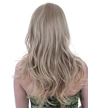 aplique tic tac loiro claro/ 50 cm/ igual cabelo humano!!!