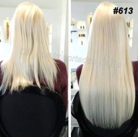 aplique tic tac mega hair igual humano 140g 60/65 cm