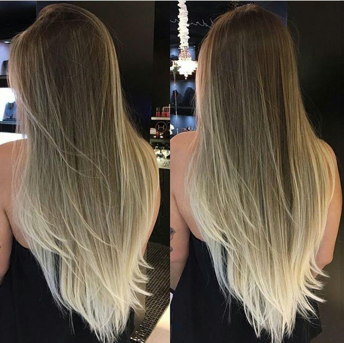 Aplique Tic Tac Ombre Hair Loiro Liso 65 Cm 500 Gramas