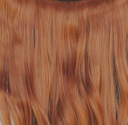 aplique tictac fibra orgânica 70 cm cor ruivo médio vermelho
