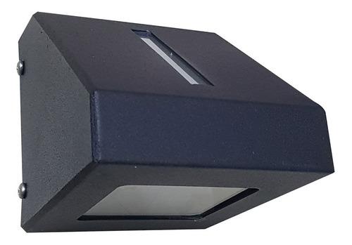 aplique unidireccional 1 luz exterior ap 112 negro text
