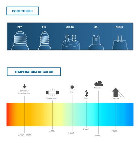 aplique unidireccional brasil, apto para intemperie, color g