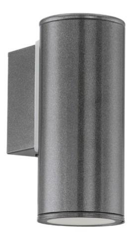 aplique unidireccional riga-led, gris oscuro - eglo eg0442