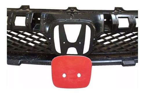 aplique vermelho resinado new civic traseiro e frontal 06/11