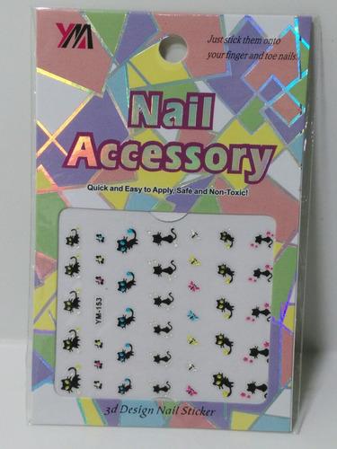 apliques accesorios para uñas pack de 39 gatitos gatos