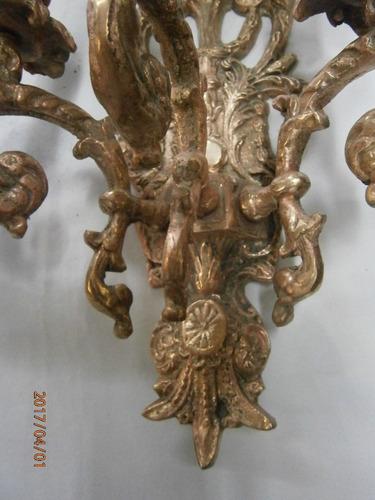 apliques de pared bronce vela 3 luces x c/u