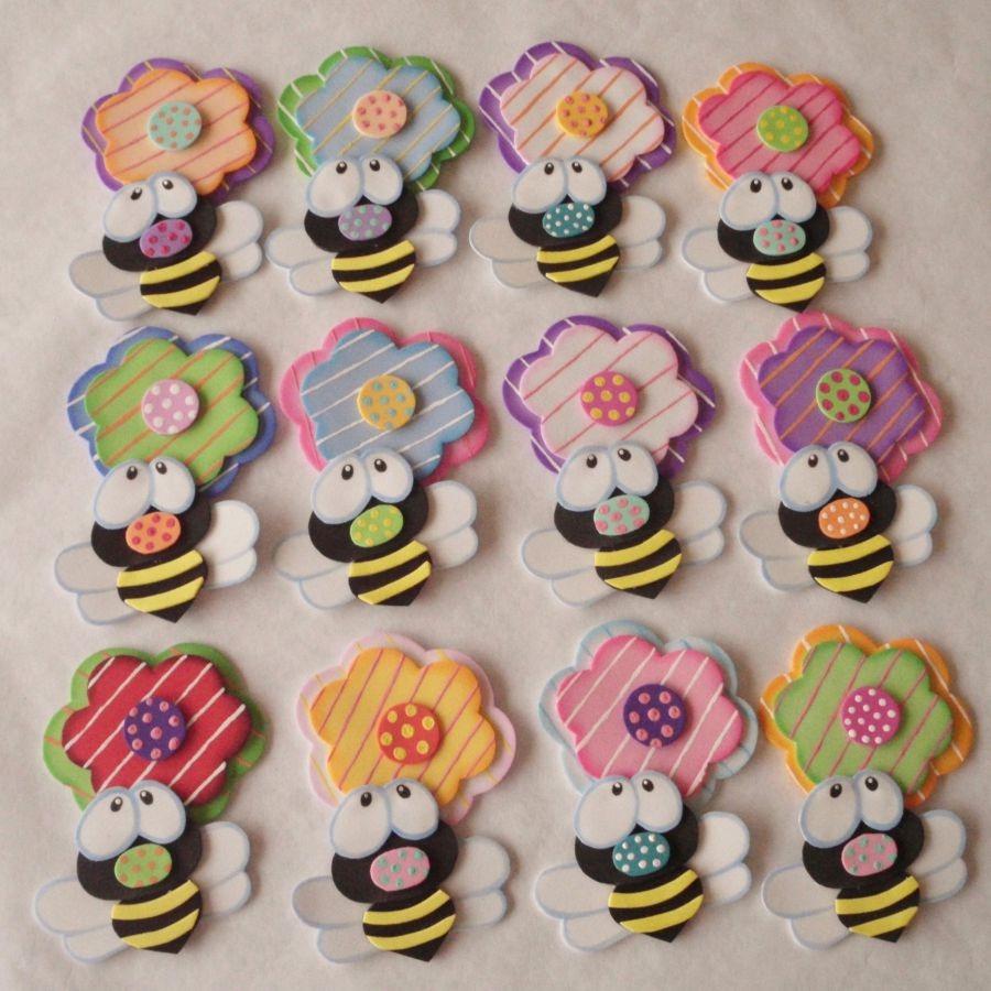 Apliques en foami flores mariposas dia del amor y amistad bs 500 00 en mercado libre - Figuras para decorar ...