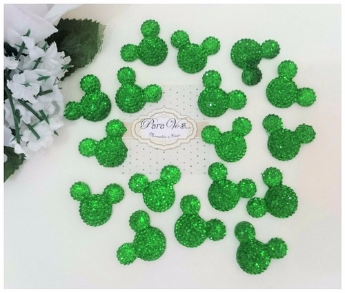 apliques minnie mickey strass decoracion safari selva zoo