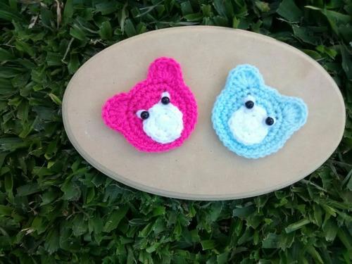 apliques ositos crochet.ideal prendas, deco, souvenirs