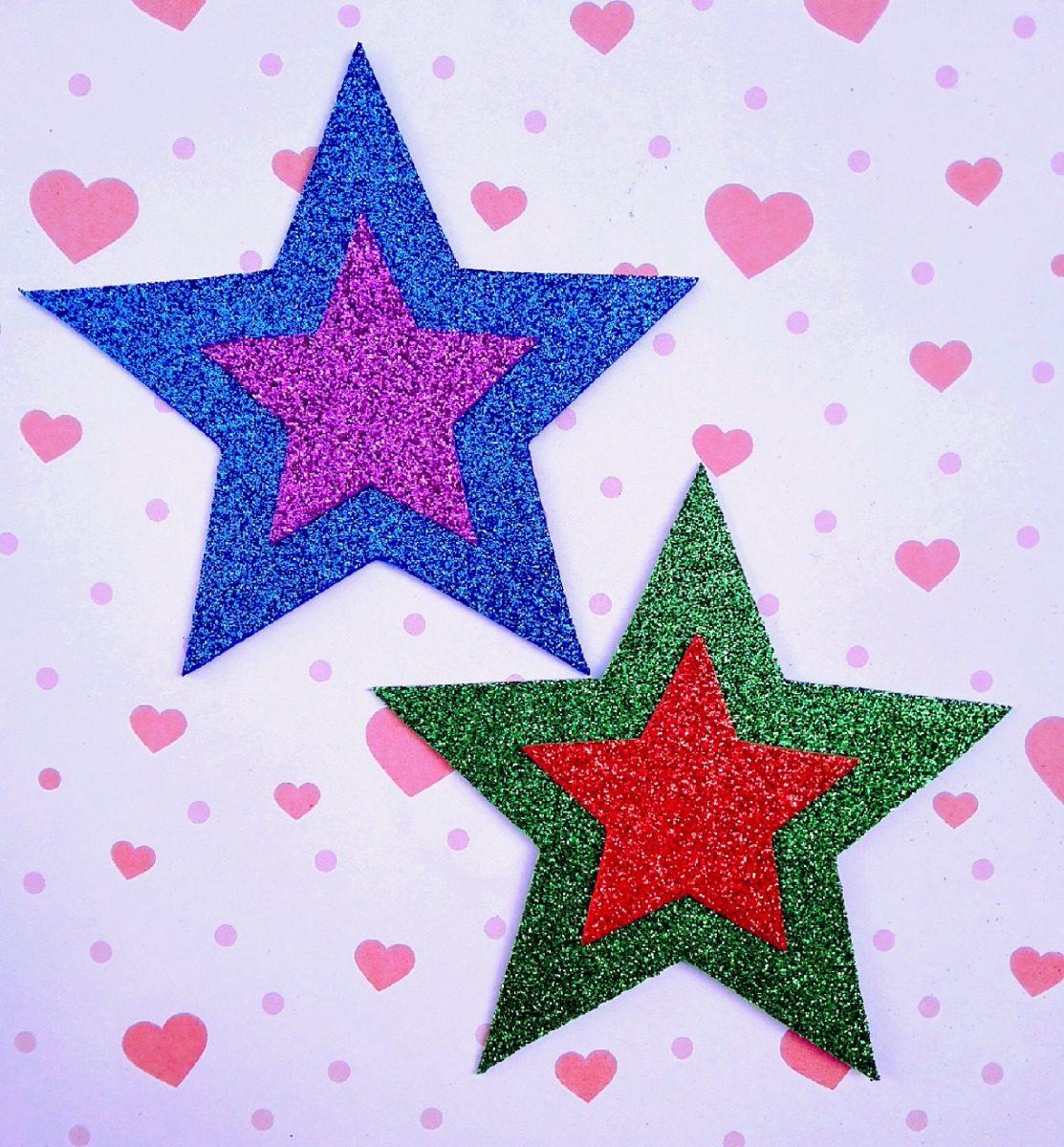 Apliques Para Decoración Navidad Goma Eva Glitter 24cm