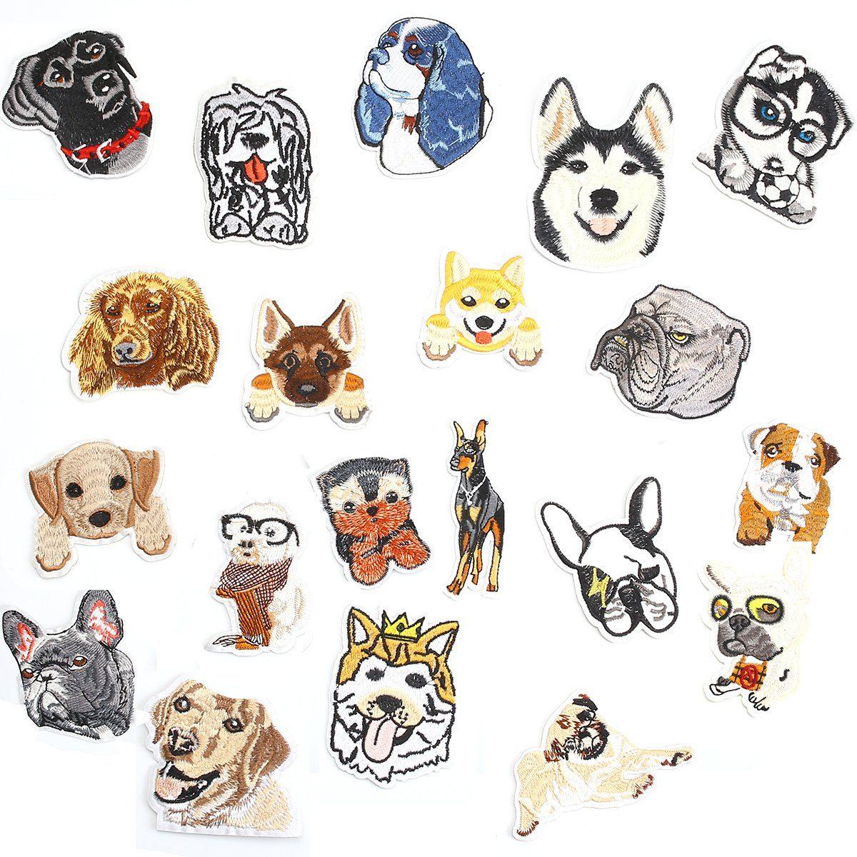 Apliques,20 Pcs Dog Puppy Diy Apliques Bordados Patrones ...
