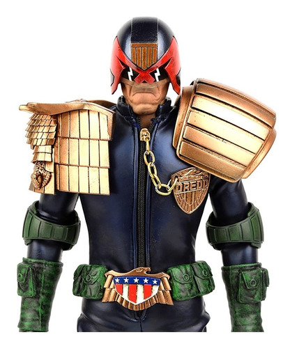 apocalypse war judge dredd figura 1/6 - threea - robot negro