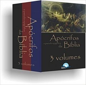 apócrifos e pseudo epígrafos da bíblia 3 v + apócrifos 5 vol