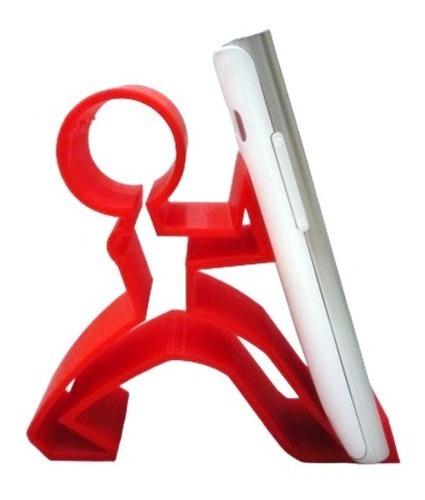 apoiador de smartphone celular iphone boneco puxador mesa