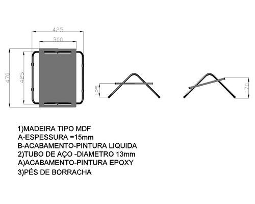 apoio apoiador ergonômico para os pés pé mdf - kit 5 peça