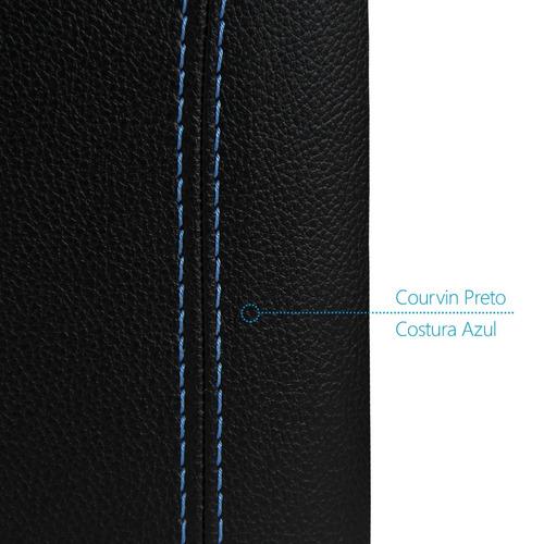 apoio de braço kicks 2017 2018 19 courvin preto costura azul