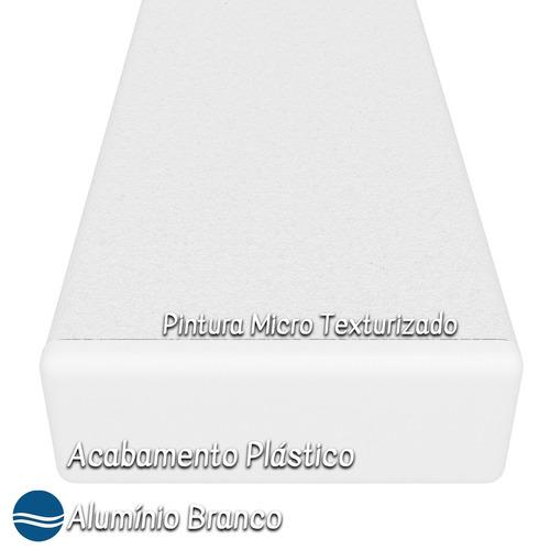 apoio de pé riviera alumínio branco tela sling - azul claro