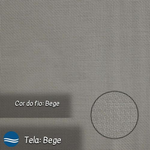 apoio de pé riviera alumínio branco tela sling - bege