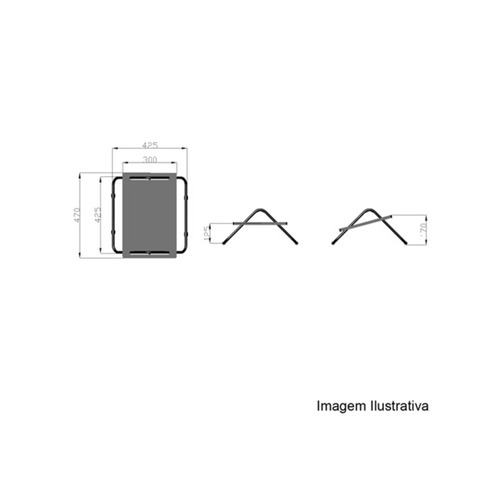 apoio ergonômico para pés em mdf ajustável 47x42,5cm preto
