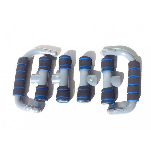 apoio flexão push up bars - liveup(azul)