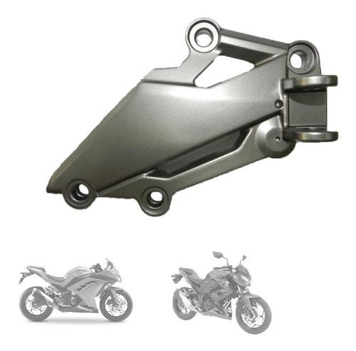 apoio pedaleira bacalhau piloto direito original ninja 300